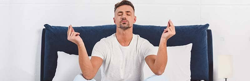 Man die meditatie toepast