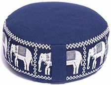Meditatiekussen donkerblauw olifanten opdruk