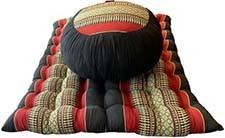 Thaise Complete Set Ronde Meditatiekussen Meditation Mat Rood