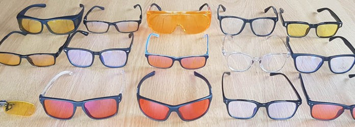 Blauw filter brillen
